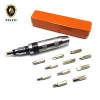 PEGASI 13pcs Positive negative Impact screwdriver blow Stubborn screw Heavy Duty Impact screwdriver Set Case Tools