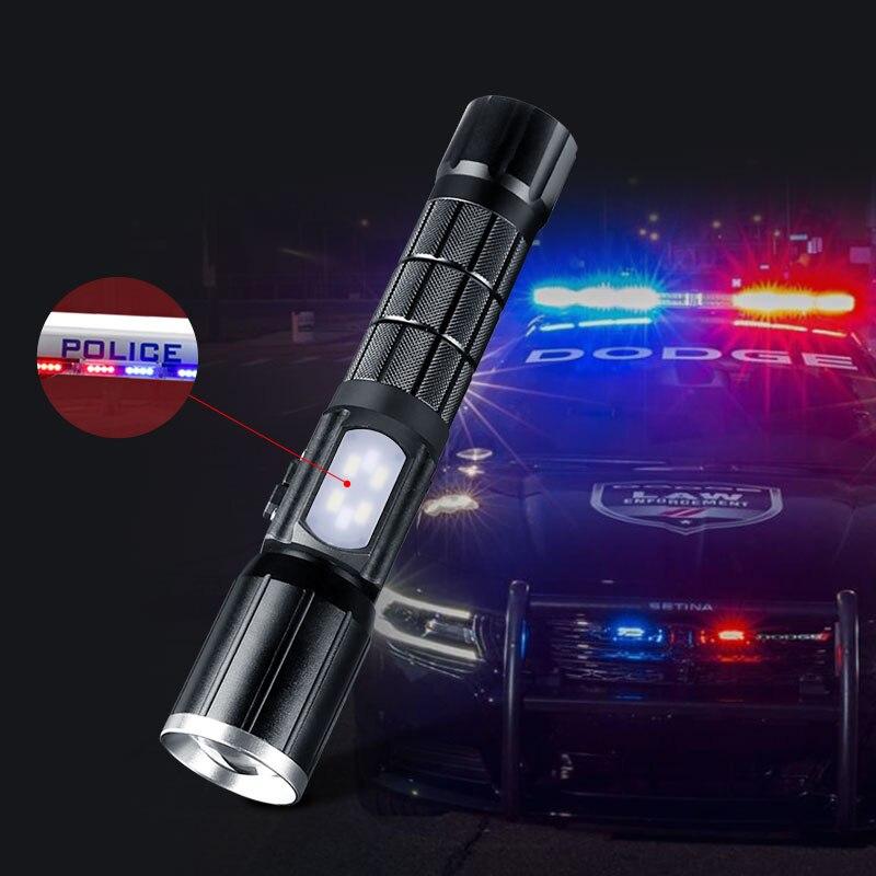 LED Wiederaufladbare Aluminium Zoom Taschenlampe YGAE CREE T6 Linterna Taschenlampe USB 18650 Outdoor Camping Leistungsstarke Tactical Led Taschenlampe