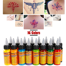 1 Bottle 1oz black Tattoo Ink Pigment Set Kits Body Arts 30ml black Professinal Beauty Permanent Makesup Paints Accesories