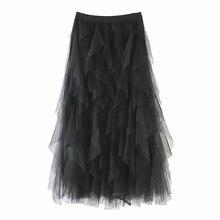 Jaycosin одежда женские повседневные юбки удобные тюль Высокая Весенняя Талия плиссированная пачка Женская юбка миди