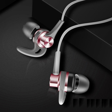 High quality earphone in - ear stereo bass weight low tone controlled mic music earplug sport