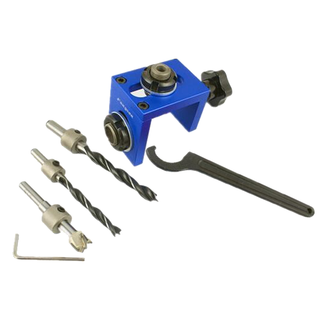 Wood Dowel Hole Drilling Guide Jig Drill Bit Woodworking Positioner Locator new pocket hole jig drill guide hole positioner locator with clamp woodworking tool kit suitable for joining panel furniture