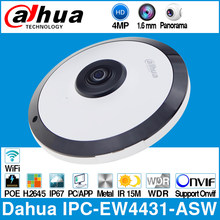 Dahua IPC-EW4431-ASW 4MP Panorama 180 Grad POE WIFI Fisheye IP Kamera Eingebaute MIC SD Karte Slot Audio Alarm In/ heraus Interface(China)