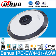 داهوا IPC EW4431 ASW 4MP بانوراما 180 درجة POE واي فاي فيش كاميرا IP المدمج في هيئة التصنيع العسكري SD فتحة للبطاقات إنذار الصوت في/خارج واجهة