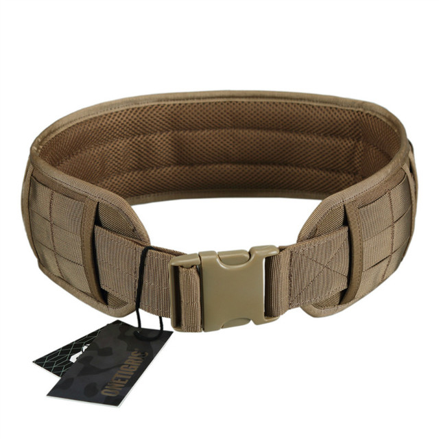 OneTigris Tactical Hunting Molle Battle Belt Military Combat Padded Patrol  Belt for Men Waist Support 9a40d9665bf