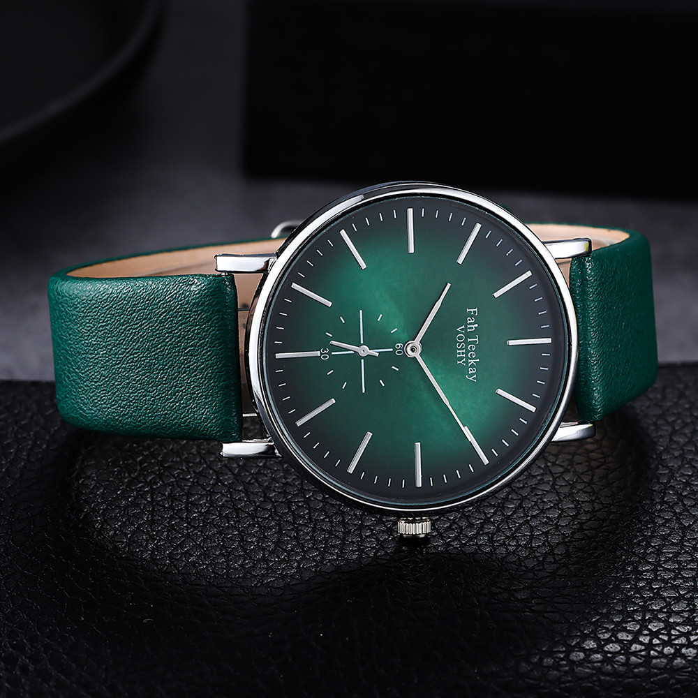 Minimalist Exquisite Women Quartz Watch Fashion Green Elegant Dial Casual Ladies Watch Female Leather Strap Ladies Dress Gift #W