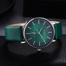 Minimalist Exquisite Women Quartz Watch Fashion Green Elegan