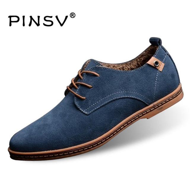 Büyük Boy 48 Kış Ayakkabı Erkekler Çizmeler Kürk Deri Çizmeler Erkekler rahat ayakkabılar 10 Renk yarım çizmeler Için Erkekler Flats Zapatos Hombre