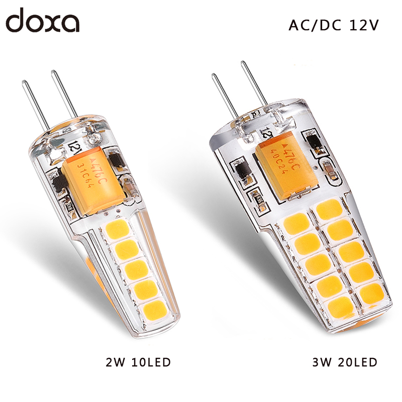 <font><b>G4</b></font> LED bulb <font><b>12V</b></font> AC DC 2W <font><b>3W</b></font> Lampada Lampara LED <font><b>G4</b></font> Lamp ampul 10led 20led 360 Beam Angle 2835SMD Replace 20W 30W Halogen Lamp image