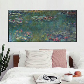 Claude Monet Water Lotus Canvas Art Print Poster, Abstract Art Wall Pictures for Living Room Decoration, Wall Canvas Art Decor
