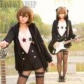 Japanese Anime K-on Hirasawa Yui Uniform Cosplay Costume bear hoodie pant jacket