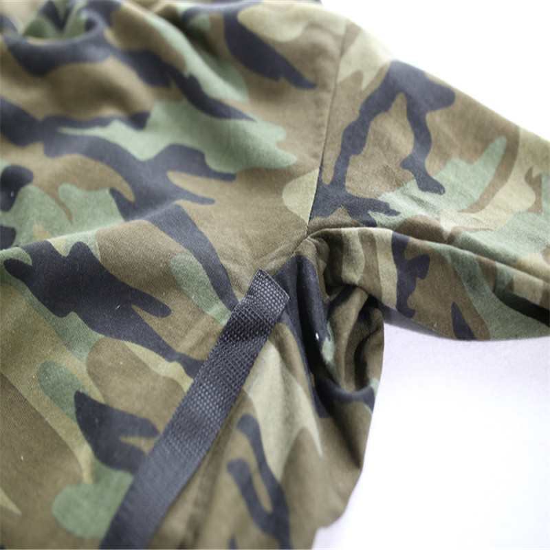 71135d9a HZIJUE oversized camo HipHop justin bieber Clothes Street Wear Kpop urban  Clothing Mens Long Sleeve Longline shirt swag Clothes-in T-Shirts from Men's  ...