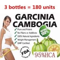3 bottles = 180 units 100% Original Pure Garcinia cambogia extracts weight loss diet supplement Burn Fat ( 95% HCA ) Slimming