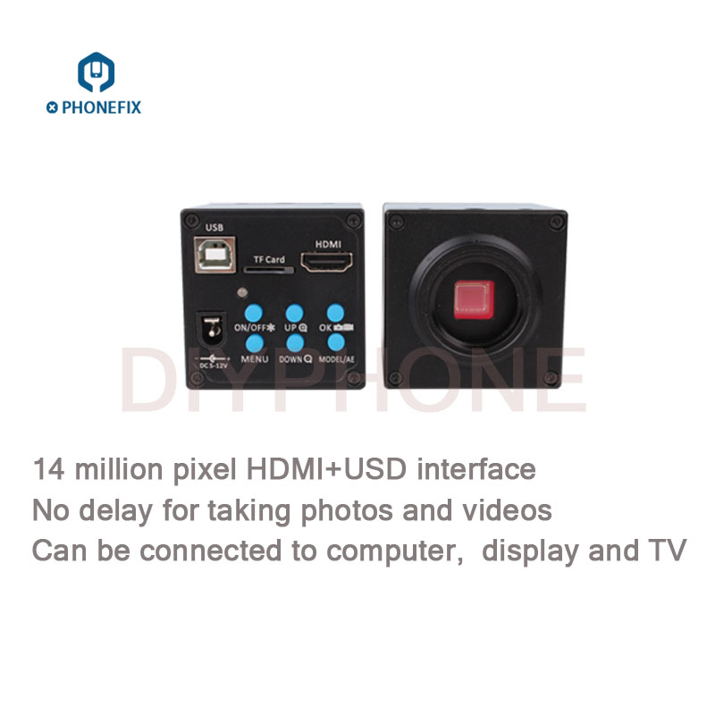 14MP 16MP 20MP CMOS 1080P 60FPS HDMI USB Industry Microscope Camera For Cell Phone PCB Repair