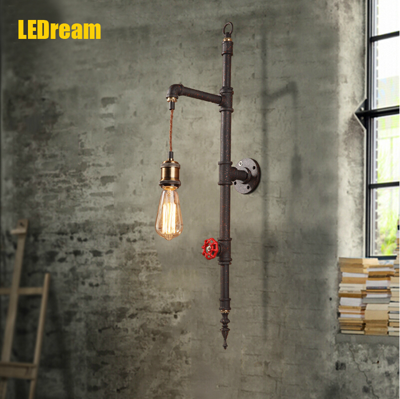 Industrial LOFT wind restoring ancient ways of lamps and lantern cafe bars pipes, wrought iron wall lamp, creative RH restaurant mccann c thirteen ways of looking