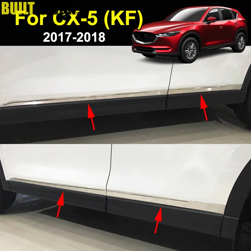 For Mazda Cx 5 Cx5 2nd Gen KF 2017 2019 Stainless Side Door Line Lining Body