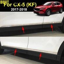 Para mazda Cx-5 cx5 2nd gen kf 2017-2019 linha de porta lateral inoxidável forro corpo moldagem chrome capa guarnição decore protetor guarda