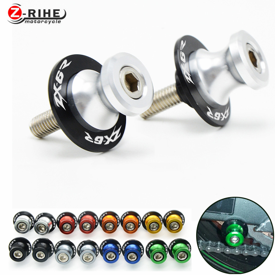 For CNC motorcycle accessories Motorcycle Swingarm Sliders Spools For Kawasaki zx6r 2008 zx-6r zx 6r 2008 blue silver gray green игрушка ecx ruckus gray blue ecx00013t1