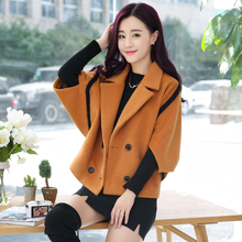 2017 Hot Sale Woman Wool Coat High Quality Winter Jacket Women Woolen Long section Coats Bat sleeves Jackets Elegant Blend YM074(China)