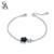 PLATA DE Verdadera Plata de Ley 925 Estrella Pulsera Aventurina Piedra Preciosa 2016 Nuevo Diseño de Joyería Fina para Las Mujeres Negro 11.11 Regalo