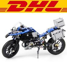 2017 NEW 603Pcs Technic Series The BAMW Off-road Motorcycles R1200 GS Model Building Kit Blocks Bricks Toy For Children 42063