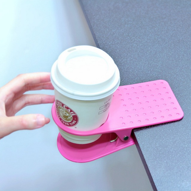 New Arrival Office Table Desk Drink Coffee Cup Holder Clip Drinklip