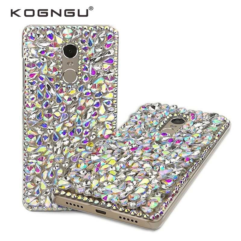 Kogngu Fashion Soft Tpu Cases for Xiaomi Redmi Note 4x Case Luxury Diamond Crystal Cases for Xiaomi Redmi Note 4x Phone Cover