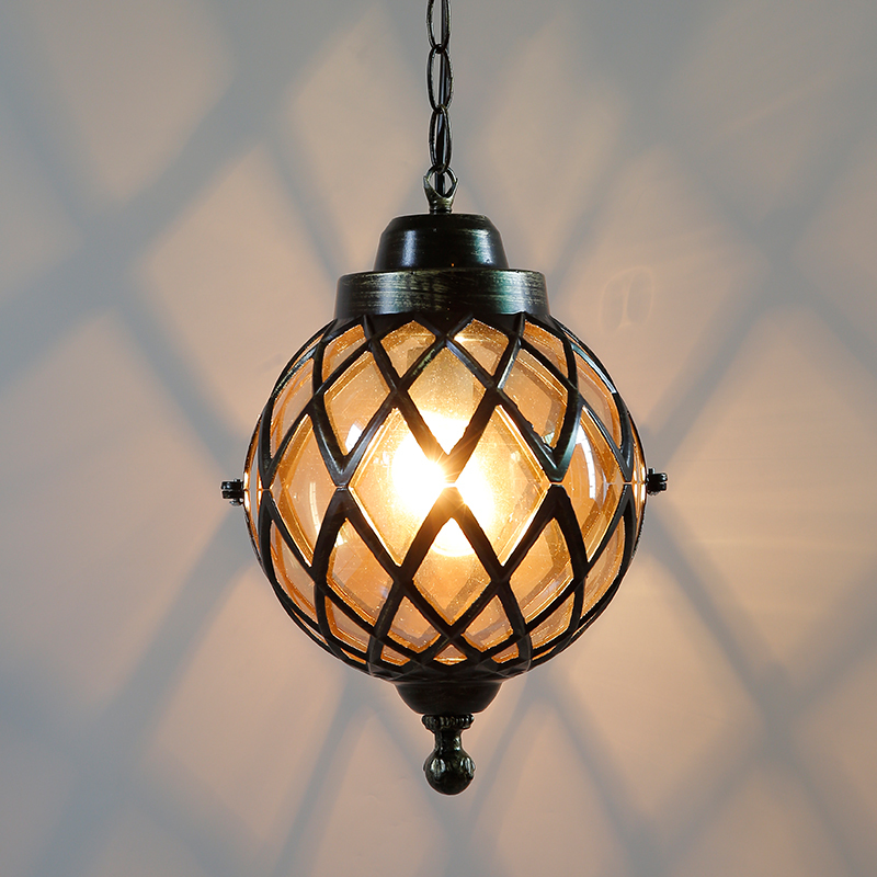 где купить American country Pendant Lights Vintage iron single head color glass lamp bar corridor coffee pendant lamp ZL264 LU724195 по лучшей цене