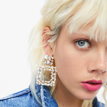 BK New crystal Earrings Fashion for Women  Gems stud Wedding Jewelry