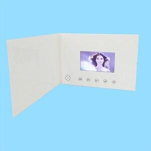 Image 1 - 4.3 cala nowe broszury wideo karty do prezentacji cyfrowy odtwarzacz reklamowy 4.3 calowy ekran wideo kartka z życzeniami 256m na sprzedaż