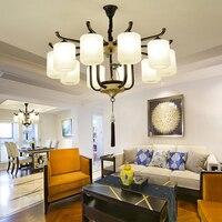 Новый китайский Керамическая люстра современная гостиная люстра китайская спальня столовая светильники отель декоративные огни
