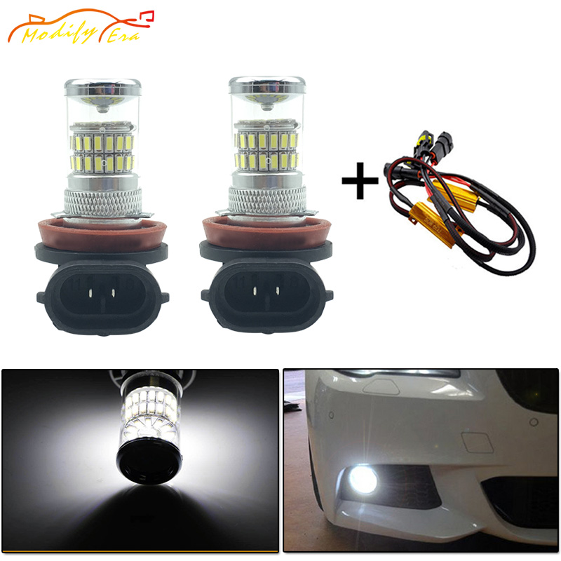 Modify.Era 2pcs Error Free Canbus H8 H11 Auto Fog Light LED Bulbs Driving Lamp Daytime Running Light H9 H16 48-SMD Car Headlight