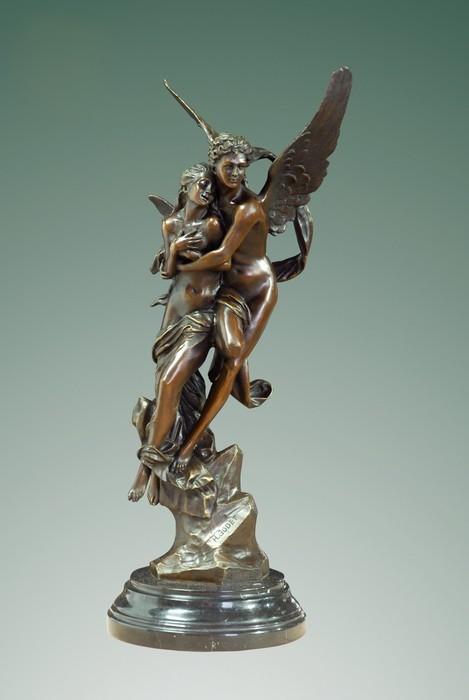 ATLIE BRONZES 24'' sculpture Greek mythology Cupid and Psyche Bronze  statues Eros famous sculptures romantic wedding decor