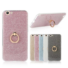 For Oppo F1s A1601 A59 case Glitter Bling Phone Cases Finger Ring Holder TPU Back Cover For OPPO A59 F1S Phone Case Coque