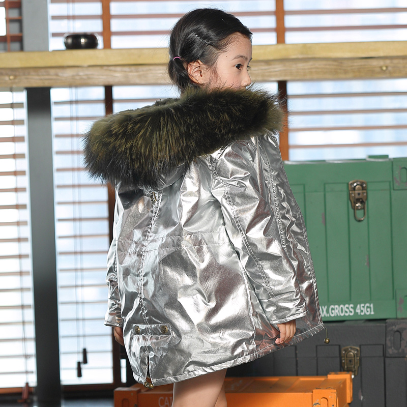JKP Boys and girls rabbit fur fashion coat large size fox fur collar autumn and winter Thicken warm jacket children coat boys and girls rabbit fur lining jacket children big fox fur collar coat winter intensive warm jacket children fur collar coat