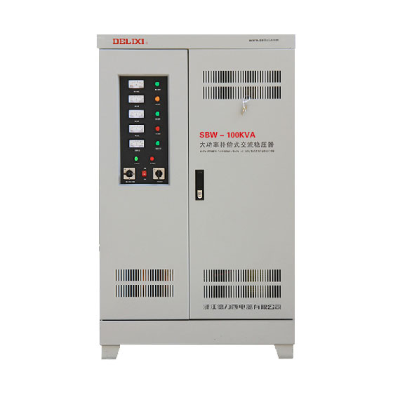 DELIXI SBW-100KVA 100KW High Power Compensation Three Phase Voltage Stabilizer 100000VA compensated power regulator in/out 380V zwbra shower curtain