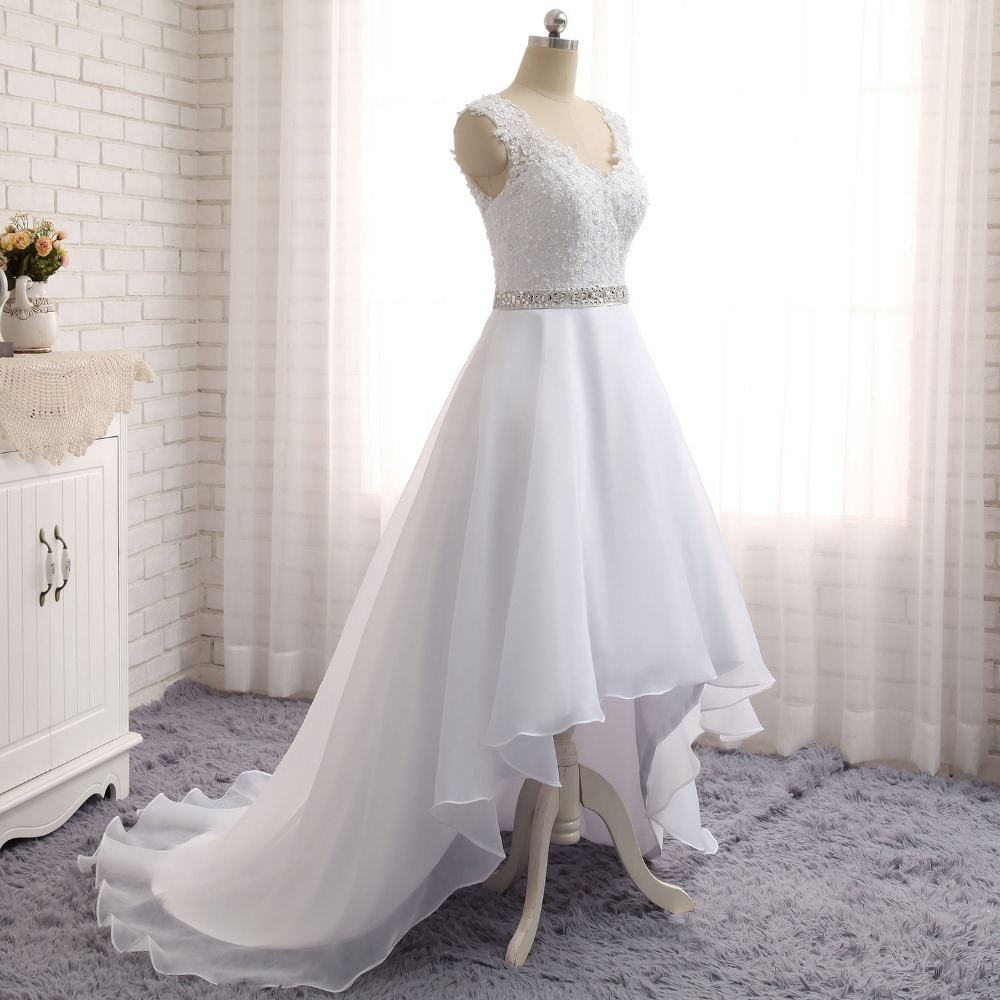 Buy fashion new high low wedding dresses for Free wedding dresses low income