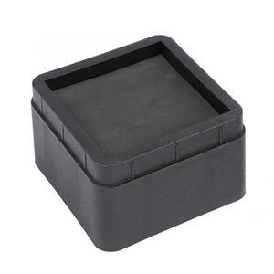 Image 4 - 4 шт. прочные складывающиеся подстилки для кровати, Черные Квадратные ножки для мебели, напольные подножки, защитные подстилки для пола, защитные накладки для пола, мебель