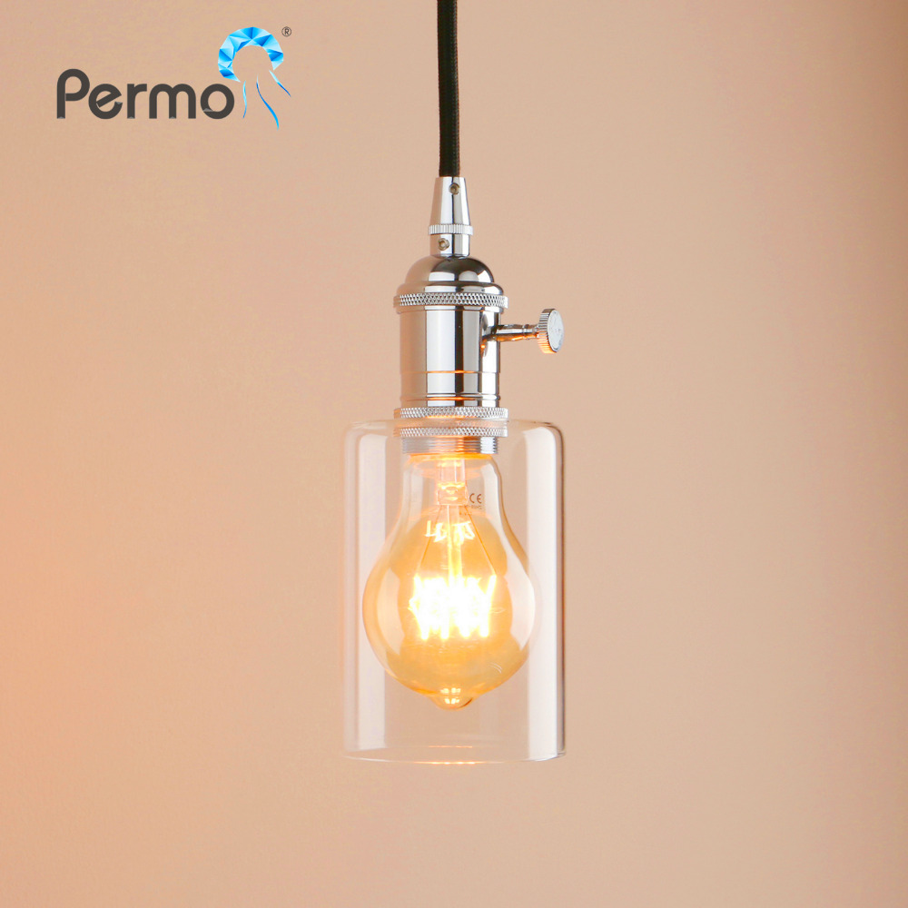 Ceiling Pendant Lights Us 23 06 22 Off Permo Vintage Antique Bronze Pendant Lights Luminaire Retro Glass Pendant Ceiling Lamps Modern Christmas Decorations For Home In