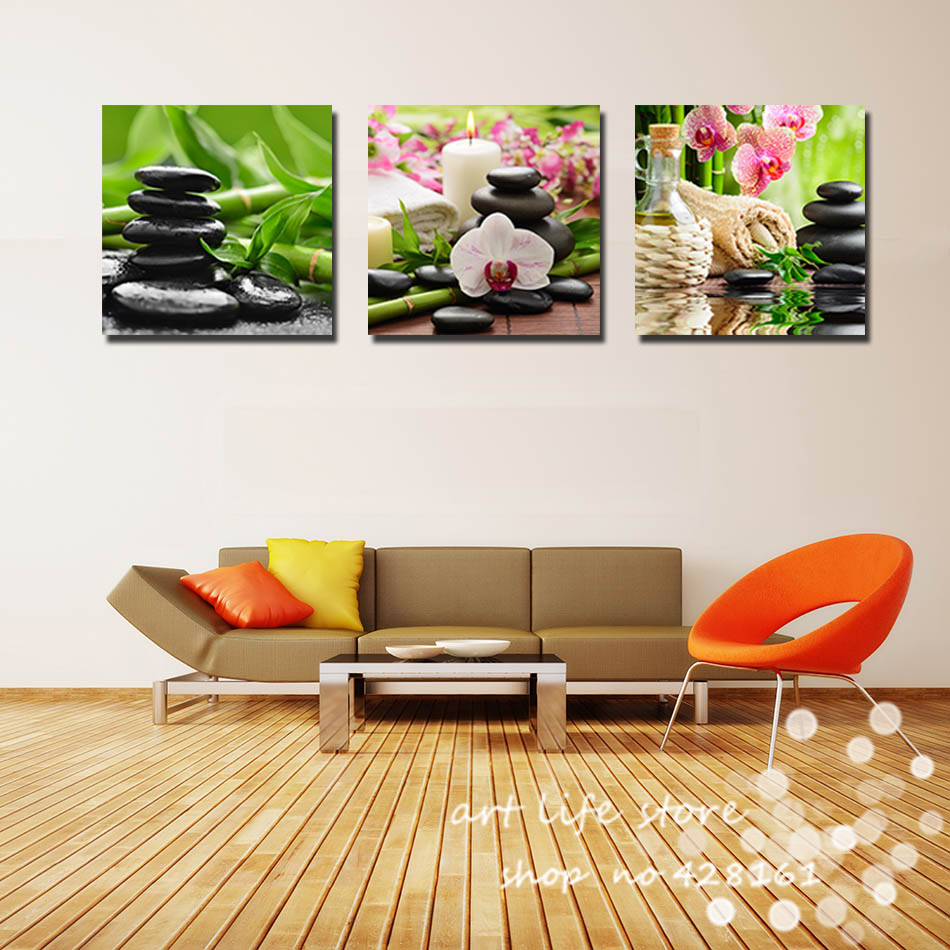 hot sell 3 piece canvas wall art modern nature green wall painting flower home art picture paint. Black Bedroom Furniture Sets. Home Design Ideas