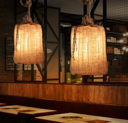 Edison Loft Style Hemp Rope Droplight Industrial Vintage Pendant Light Fixtures For Dining Room Hanging Lamp Lustres De Sala edison vintage hemp rope screw ceiling lamp loft decorate light industrial cafe club bar