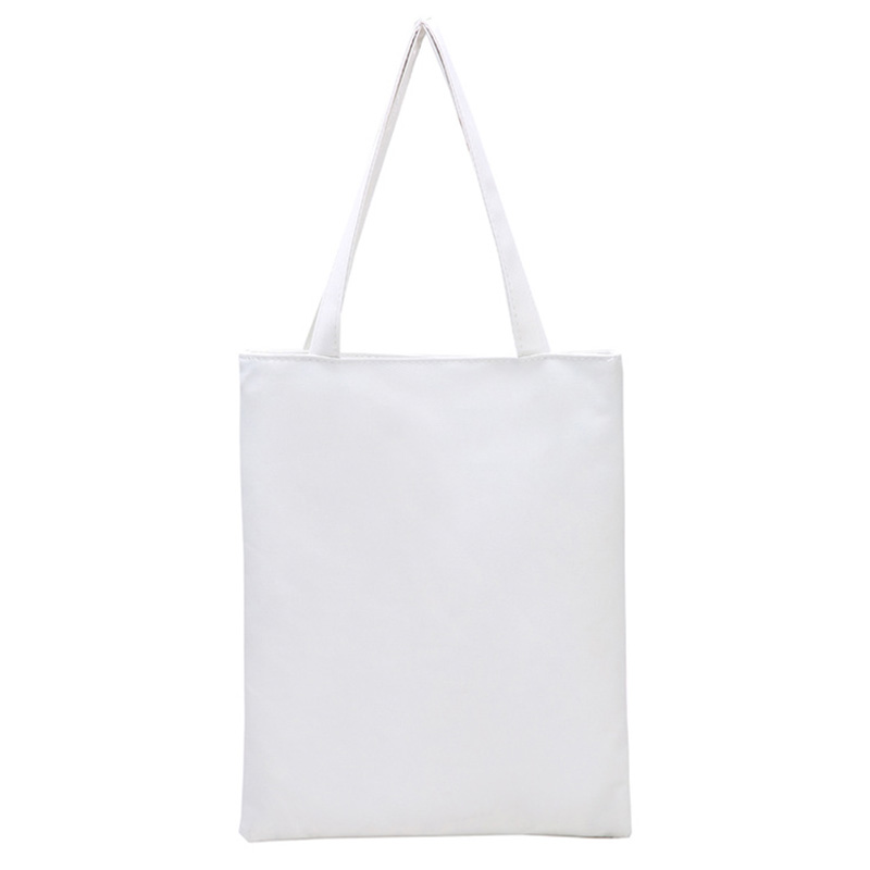 Aliexpress Fashion Blank Women S Casual Tote High Quality Canvas Shoulder Bag Plain White Black Handbag Ping Can Be Customized From