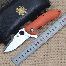 Brand Spyderco C187 Folding Knife CPM-S30V Blade G10 Handle Ball Bearing Flipper Camping Survival EDC Outdoor Tools Orange 61HRC