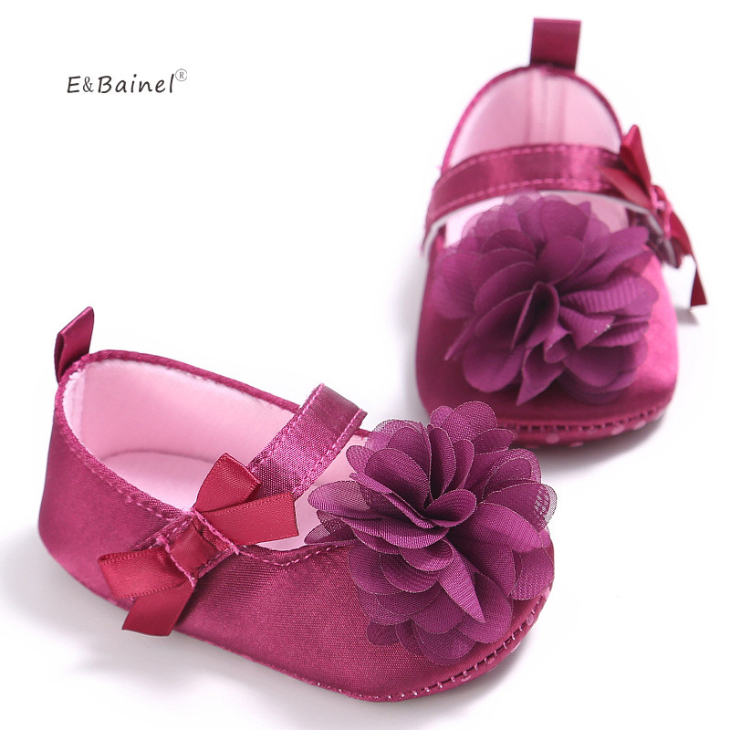 E&Bainel Baby Girl Shoes Todder First Walkers Shoes Infant Girls Prewalker Flower Soft Sole Crib Shoe