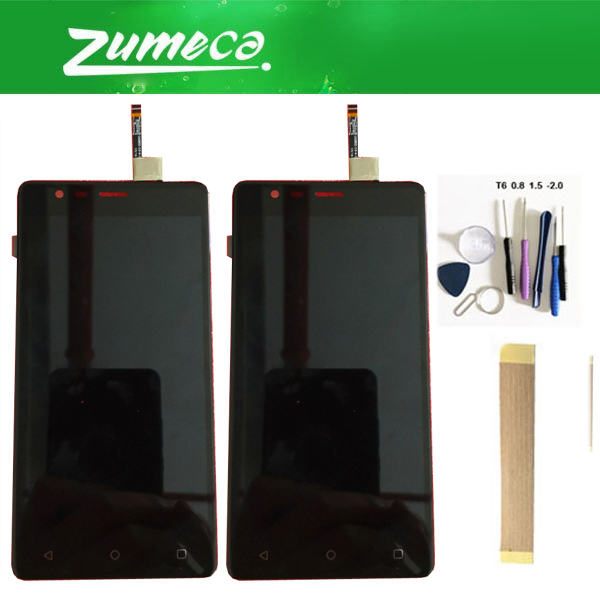 For Fly Cirrus 12 FS516 FS 516 LCD Display Screen+Touch Screen Digitizer Assembly Black Color With Tools tape