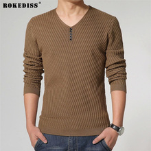 2017 autumn&winter Free shipping Fashion Solid Men Sweater V-Neck Solid color male Long Sleeve hombre Pullovers TC940