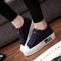 New 2016 Fashion Height Increasing Women Casual Shoes Quality Canvas Breathable Fpr Ladies Spring Autumn Zapatos Mujer B215
