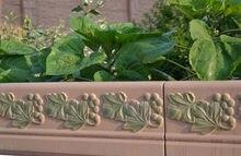 Valla decorativa Molde Uvas Ribete Frontera Jardín Flor de Moldes de Piedra de Hormigón de Cemento de Hormigón Fabricante de Moldes de Piedra