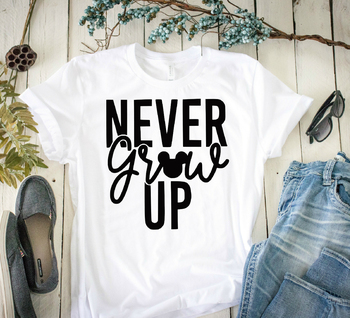 Mickey inspired Never Grow Up T-shirt