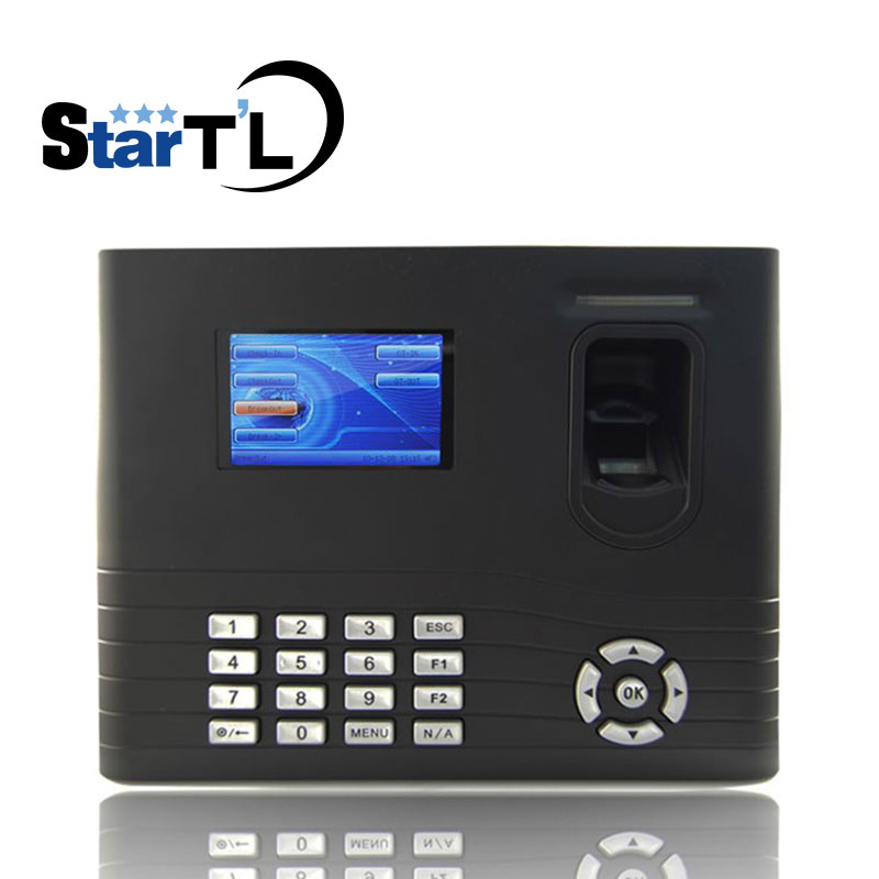 ZK IN01 control de acceso de puerta biométrico de huella digital y asistencia de tiempo de huella digital con batería de respaldo incorporada